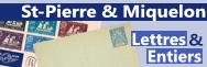 SPM - Lettres et entiers postaux