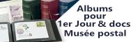 Albums & feuilles pour Docs Musée Postal & 1er jour