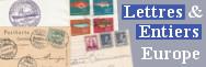 Lettres et entiers : Europe