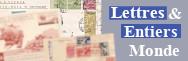 Lettres et entiers : Monde