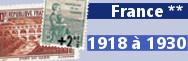 de 1918 à 1930 (n° 156 à 268)