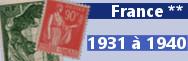 de 1931 à 1940 (n° 269 à 469)