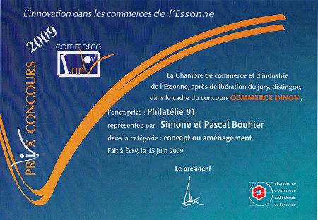 Prix concours 2009 commerce innov cci de l essonne for Chambre de commerce essonne